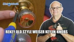 Rekey Old Style Weiser Locks Key in Knobs